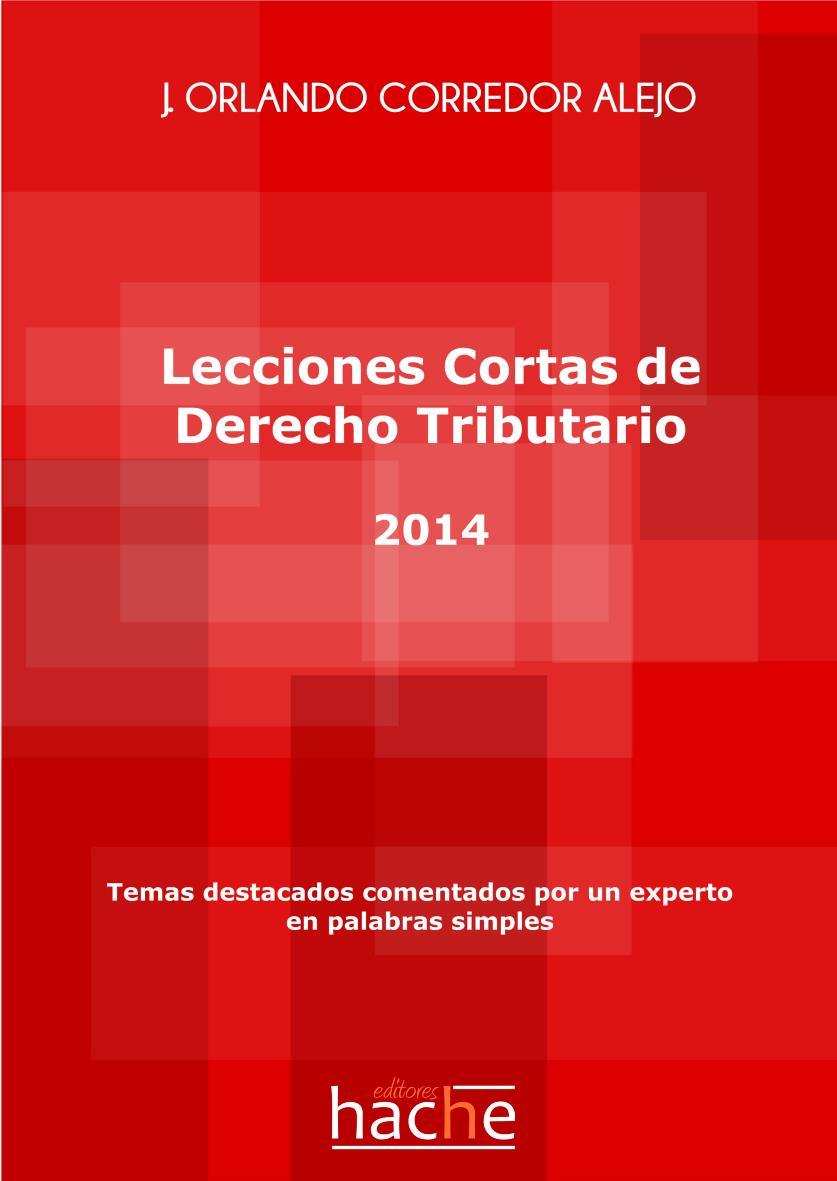 Lecciones Cortas de Derecho Tributario